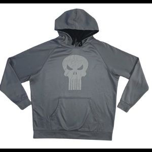 Marvel The Punisher Gray Hoodie Sz XL